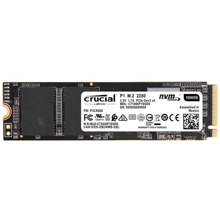 SSD: Crucial P1 1TB M.2