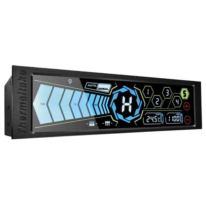 "Thermaltake Commander FT Touch Screen 5 Channel Single 5.25"" Bay Cooling Fan Controller AC-010-B51NAN-A1"