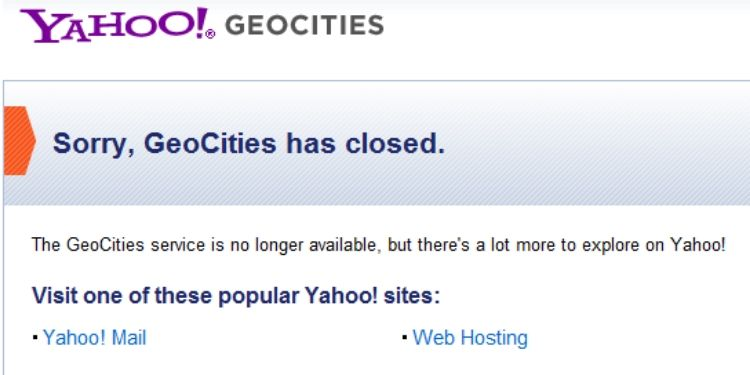 What Happened to GeoCities