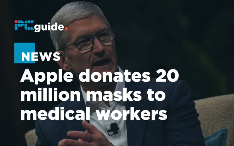 Tim Cook announces Apple will donate 20 million masks to medical workers