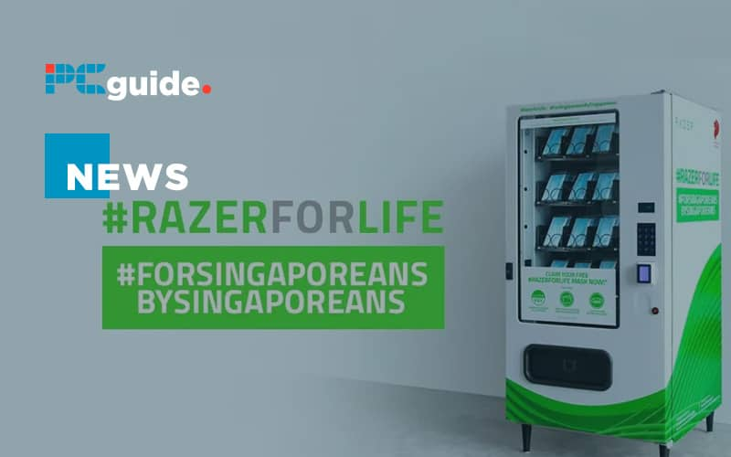 Razer distributes free face masks via vending machines