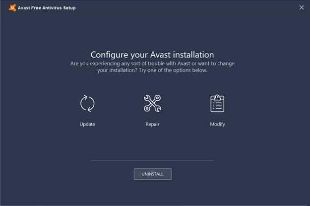 How To Uninstall Avast Antivirus Step 5