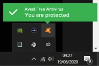 How to disable avast antivirus from system tray step 1