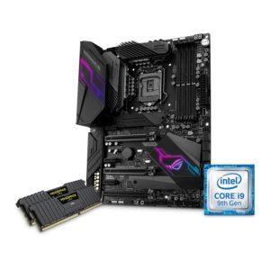 DiY BUNDLE ASUS MAXIMUS XI HERO Z390 Motherboard, i9 9900K CPU & 16GB Corsair DDR4 3000MHz RAM
