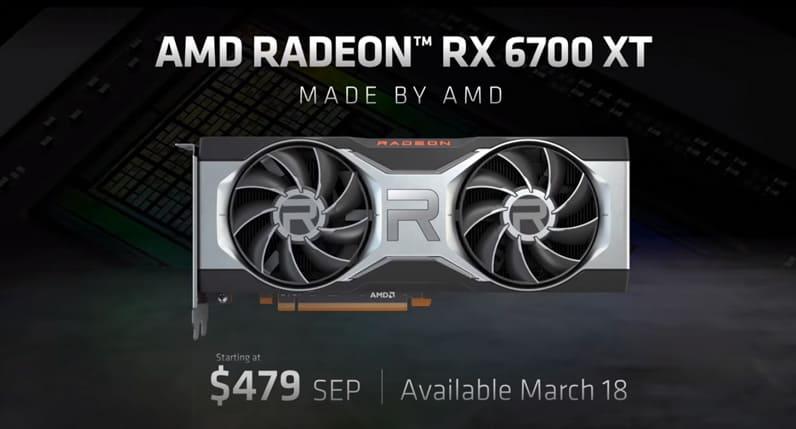 AMD Radeon RX 6700 XT Price & Release Date