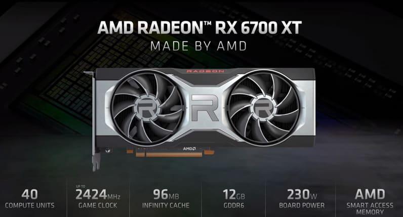 AMD Radeon RX 6700 XT Specs
