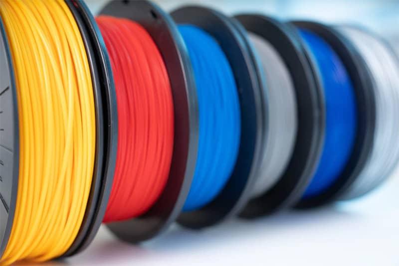 Rolls of 3D printer filament