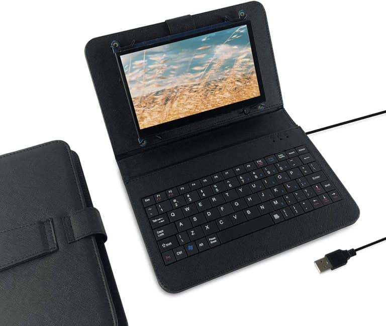 Jun-Electron Touch Screen with USB Keyboard Leather Holder