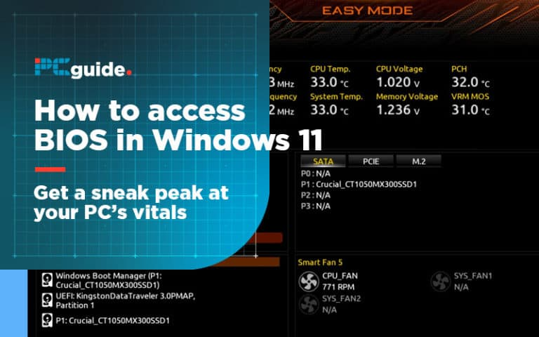 how to access bios in windows 11