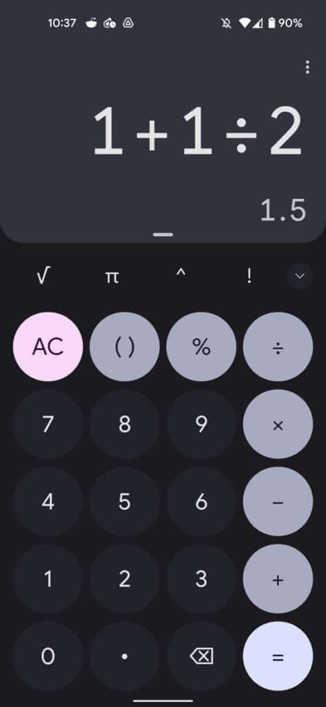 Calculator With Material You Redesign