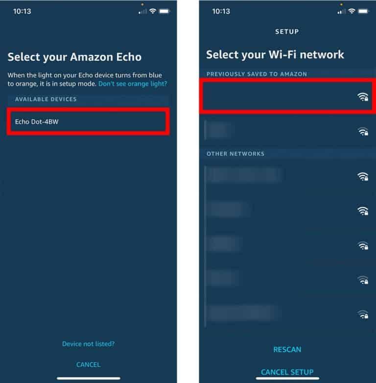 Connecting Alexa to WiFI
