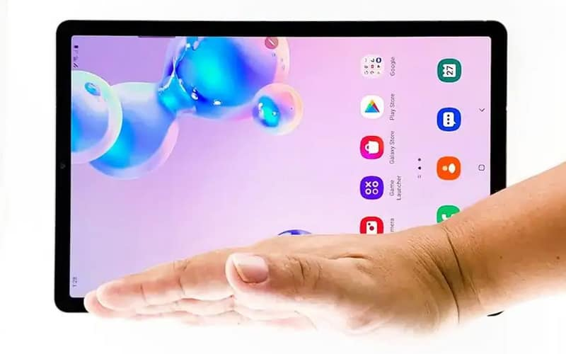how to screenshot on samsung tablet gesture