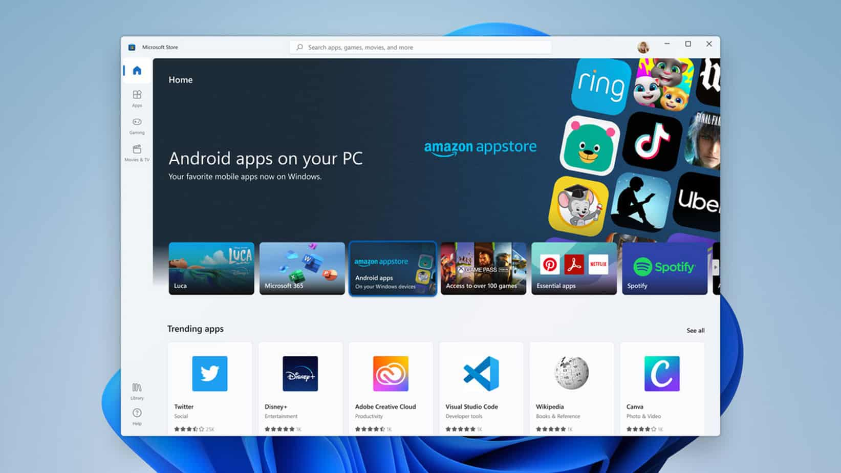 Windows 11 can kind of run Android apps now 1